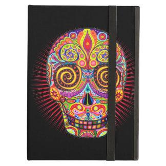 Caja colorida del iPad del cráneo del azúcar con K