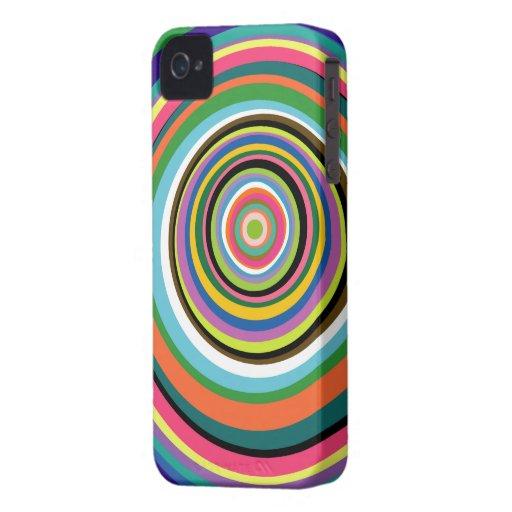 Caja colorida del iPhone 4/4S de los anillos iPhone 4 Carcasas