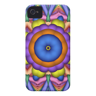 Caja colorida del iPhone 4 de la flor del Funda Para iPhone 4 De Case-Mate