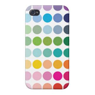 Caja colorida del iPhone 4 de los lunares iPhone 4 Funda