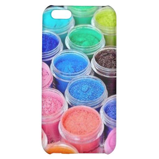 Caja colorida del iPhone 4 del pigmento del maquil