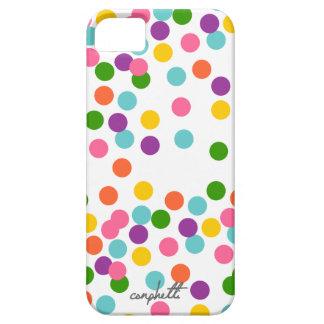 Caja colorida del iPhone 5/5s del confeti iPhone 5 Carcasa