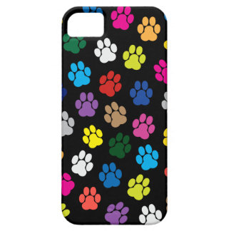 Caja colorida del iPhone 5 de las patas del perro iPhone 5 Coberturas