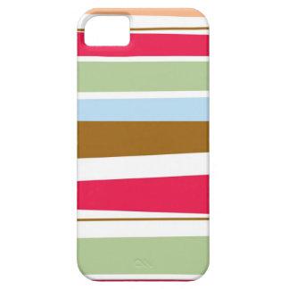 Caja colorida del iphone 5 de las rayas brillantes iPhone 5 Case-Mate cobertura