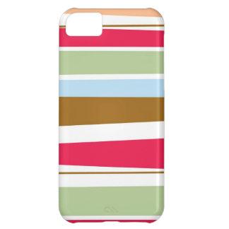 Caja colorida del iphone 5 de las rayas brillantes