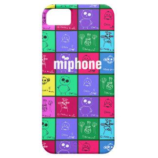 Caja colorida del iPhone 5 de los dibujos de los iPhone 5 Carcasas