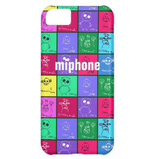 Caja colorida del iPhone 5 de los dibujos de los n