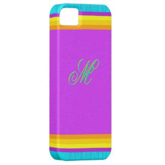 Caja colorida del iPhone 5 de Monogramed Funda Para iPhone SE/5/5s