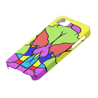 Caja colorida del iPhone 5 del arte abstracto Funda Para iPhone SE/5/5s
