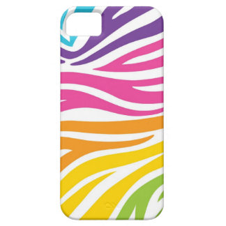 Caja colorida del iPhone 5 del estampado de zebra iPhone 5 Cárcasa