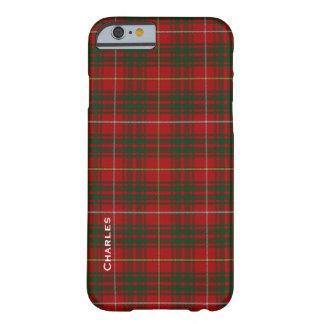 Caja colorida del iPhone 6 de la tela escocesa del Funda Barely There iPhone 6
