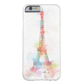 Caja colorida del iPhone 6 de la torre Eiffel