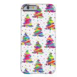 Caja colorida del iPhone 6 de los copos de nieve Funda Para iPhone 6 Barely There