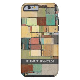 Caja colorida del iPhone 6 del arte abstracto del Funda De iPhone 6 Tough