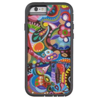 Caja colorida del iPhone 6 del arte abstracto Funda De iPhone 6 Tough Xtreme