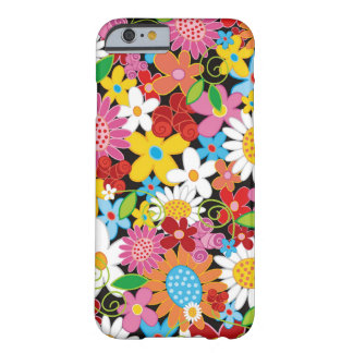 Caja colorida del iPhone 6 del jardín de flores de Funda De iPhone 6 Barely There
