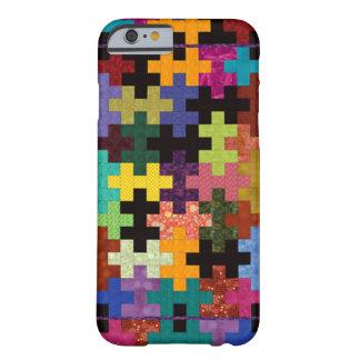 Caja colorida del iPhone 6 del modelo del edredón Funda Barely There iPhone 6