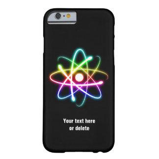 Caja colorida del iPhone 6 del símbolo del átomo