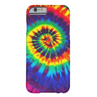 Caja colorida del iPhone 6 del teñido anudado Funda Para iPhone 6 Barely There