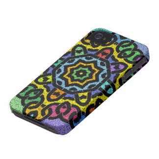 Caja colorida del iPhone de Knotwork Case-Mate iPhone 4 Protectores