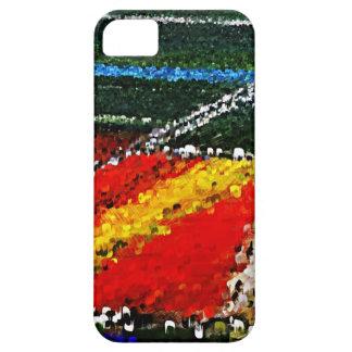 Caja colorida del iPhone de la pintura del campo iPhone 5 Fundas