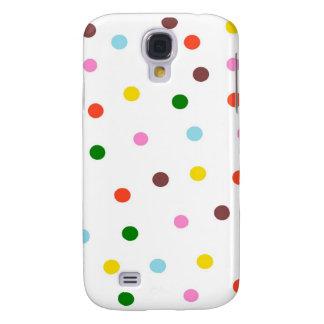Caja colorida del iPhone de los lunares