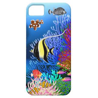 Caja colorida del iPhone de los pescados del arrec iPhone 5 Protector
