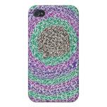 Caja colorida del iPhone de los remolinos iPhone 4 Cárcasas