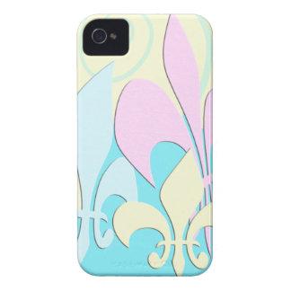 Caja colorida del iPhone del arte de la flor de Case-Mate iPhone 4 Cobertura