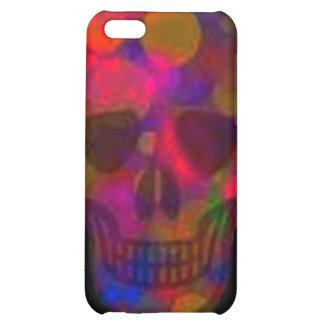 Caja colorida del iphone del cráneo