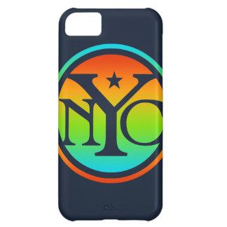 Caja colorida del iPhone del logotipo de NYC Funda Para iPhone 5C