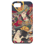 Caja colorida del iPhone del samurai de dos japone iPhone 5 Case-Mate Carcasas