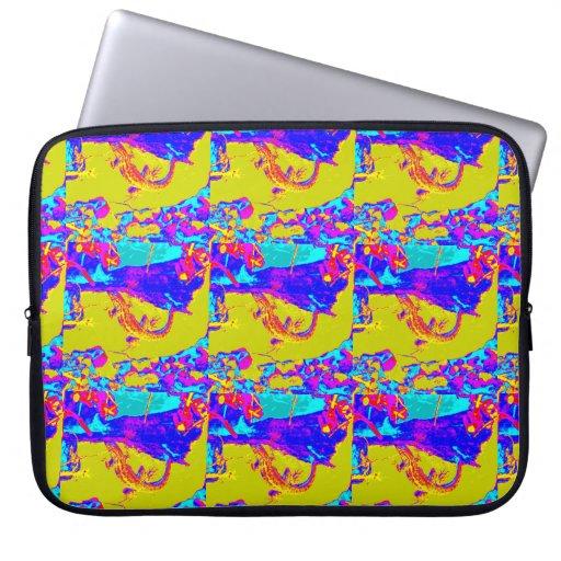 caja colorida del modelo del lagarto funda ordendadores