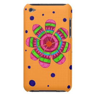Caja colorida del tacto de iPod de la flor (naranj iPod Touch Protector