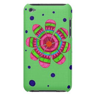 Caja colorida del tacto de iPod de la flor (verde) iPod Touch Coberturas