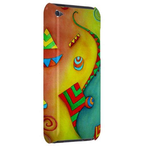 Caja colorida del tacto de iPod del arte del océan iPod Case-Mate Funda