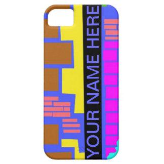 Caja colorida del teléfono celular de la pared de funda para iPhone SE/5/5s