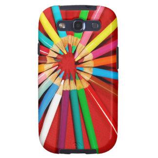 Caja colorida del teléfono de la impresión de los carcasa para samsung galaxy SIII