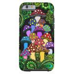 Caja colorida del teléfono de las setas funda de iPhone 6 tough