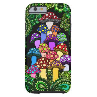 Caja colorida del teléfono de las setas funda para iPhone 6 tough