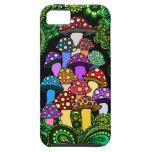Caja colorida del teléfono de las setas iPhone 5 fundas