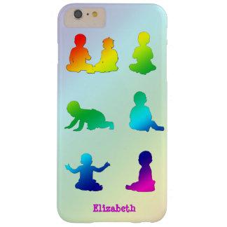 Caja colorida del teléfono de las siluetas de los funda para iPhone 6 plus barely there