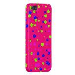 Caja colorida del teléfono de los corazones del el iPhone 5 fundas