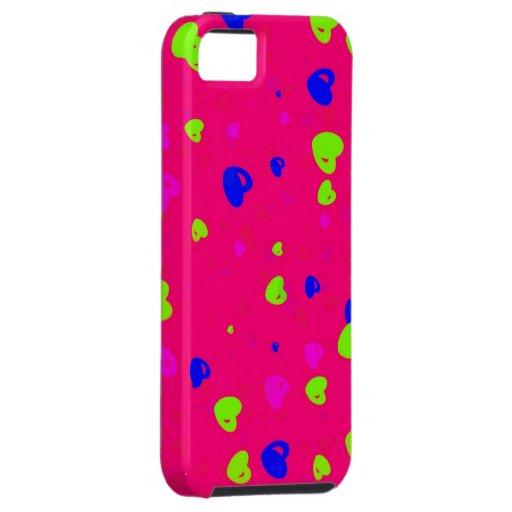 Caja colorida del teléfono de los corazones del el funda para iPhone SE/5/5s