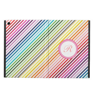 Caja colorida femenina del aire del iPad del monog