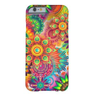 Caja colorida hermosa de la flor funda barely there iPhone 6