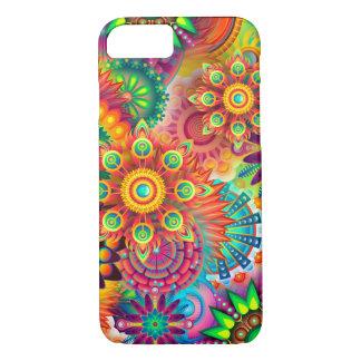 Caja colorida hermosa de la flor funda iPhone 7