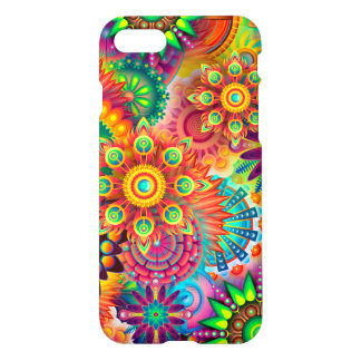 Caja colorida hermosa de la flor funda para iPhone 7