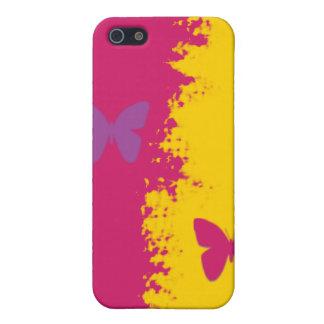 caja colorida hermosa del iPhone de la mariposa iPhone 5 Fundas