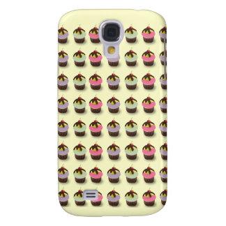 Caja colorida linda del iPhone 3 de las magdalenas